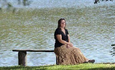 Lake lover: Karen Hutchinson is backing the rehabilitation of Woolgoolga Lake.