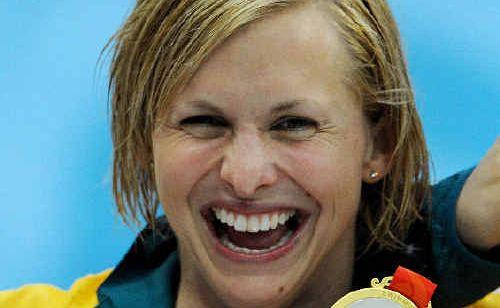 Australian Gold Medallist swimmer Libby Trickett.