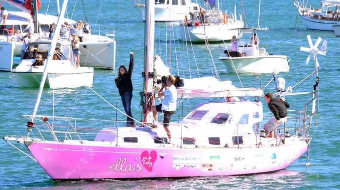 Jessica Watson at her Sunshine Coast homecoming.