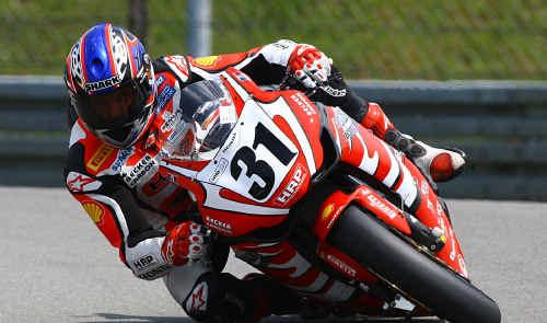Tweed's Karl Muggeridge left the other superbikes behind after burning up the Nürburgring circuit last week.