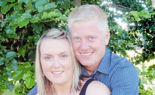 Jacob Moerland with his fiancee, Kezia Muccahy.