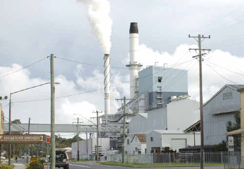The Broadwater sugar mill houses one of two biomass cogeneration plants being sold by Sunshine Electricity, a subsidiary of the NSW Sugar Milling Co-operative, because they have been a financial failure. The other is at the Condong mill on the Tweed.