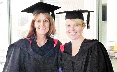 Linda Richardson and Karissa Daniels on their graduation day.
