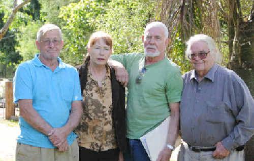 Neerdie Community Action Group members Don Mullings, Diana Chadwick, Andy Hamilton and David Camplin.