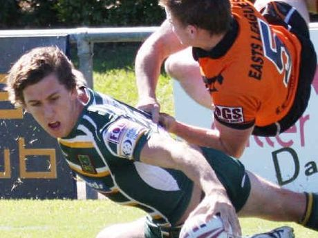 James Furminger in action against Easts Tigers.