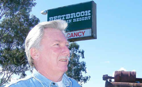 Bestbrook Mountain Resort owner Ray Vincent pleaded guilty in the Magistrates Court to breaching the council's planning scheme by not having development approval to run a vehicle saleyard.