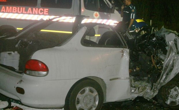 A man died in a two vehicle car accident last night on the western outskirts of Cannonvale.