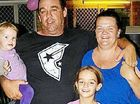 Trinity with her family: Dad, Damian Bates, Mum, Amanda Clarke and sister Mylee.