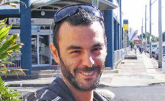 Jail sentence suspended: Zohar Kohavi, an Israeli national who has been living in the Northern Rivers for three years, outside Ballina courthouse after appearing on assault and driving offences.