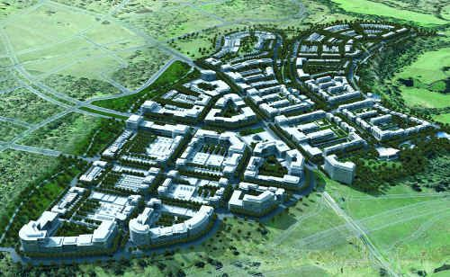 An artist's impression of the new Ripley Valley development south of Ipswich.