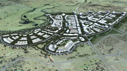 This artist's impression shows how the Ripley Valley community will look on completion.