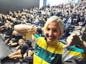 Olympian inspires students