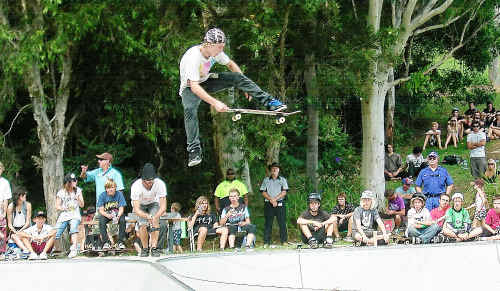 Kids at Nambucca skate park are generally positive and well behaved.