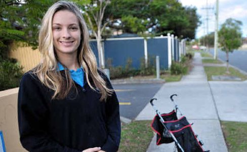 Baby bonus: Carlie Williamson and her partner planned their pregnancy with the paid parental leave scheme in mind.