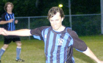 Bluedog: Bangalow's Simon Burns in action against Goonellabah.