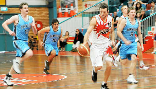 Coffs Harbour's Mitch Cole was the top scorer for the Suns in the men's State League matches against Tamworth and Armidale on the weekend.