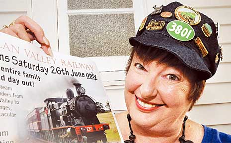 Karyn Garrard is underwriting the cost of coal and track fees for the Lachlan Valley Railway steam train to celebrate 100 years of rail between Casino and Kyogle.