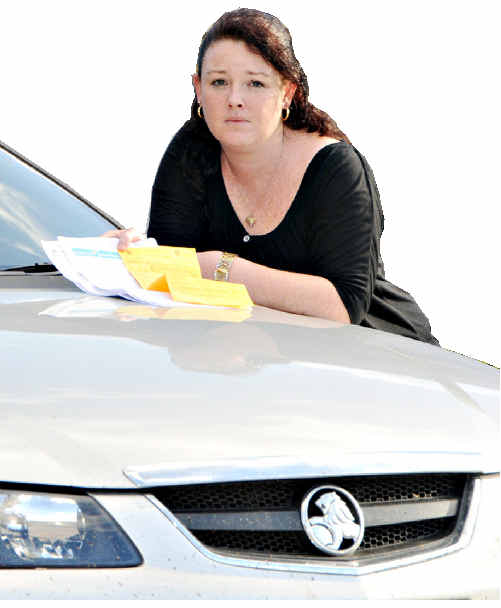 Katrina Gardner has been fined for not paying her vehicle registration after a computer error.