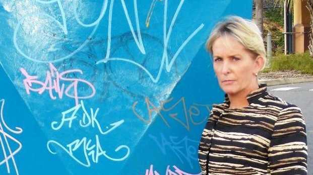 Mudgeeraba state MP Ros Bates takes graffiti seriously.