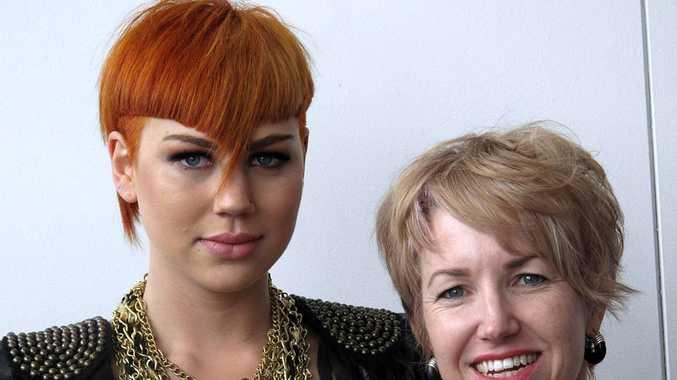 Lisa Batson (right) with her model Jess Vickery and the award-winning look she created.