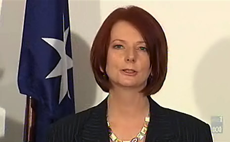 At a media conference in Parliament House, Ms Gillard told the media she was