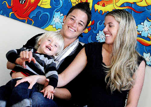 Tweed couple Sarah and Michelle Garnett, with Ezaiah, turned to modern science in the form of IVF to provide them with children.