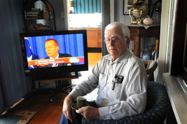 Kevin Rudd's uncle Kev De Vere says the Prime Minister was stabbed in the back by his deputy Julia Gillard.