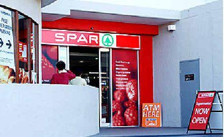 Closed: The SPAR supermarket at Byron Bay.