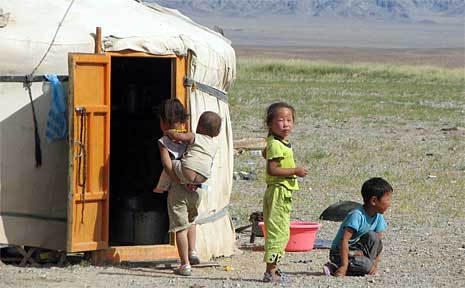 Mongolia is known most of all for her gentle nomadic folks.