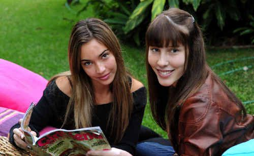 Chanel Stewart (left) and Madalen McClelland are making an impression in Girlfriend magazines modelling competition.