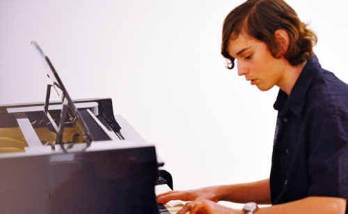 Joshua Doak performed a piano solo at the Eisteddfod Gala.