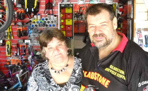 Gladstone Bicycle Centre owners Sally-Anne and David McIntosh use a tax accountant.