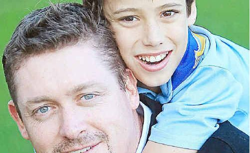 Mine is yours: Tweed dad James Shugg will give his son Nicholas one of his kidneys so he can avoid dialysis and lead a normal life.