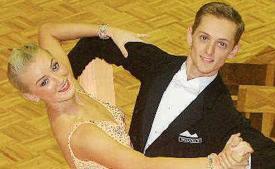 Dancing duo: Tweed dancers Rhett Salmon and Kristie Simmonds.