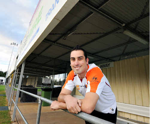 Brisbane Roar supporter Joshua Henwood and mate Darryl Manton will get up close and personal with the Roar during their pre-season trial match against the Sunshine Coast Fire in Gympie this evening. The pair will sit on the Roar bench during the game and enjoy dinner with the team afterwards.