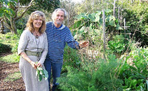 DIGGING IN: Michel and Jude Fanton of the Seed Savers Network, in their garden at Byron Bay, where they are holding classes to pass on tips about growing your own tasty produce.