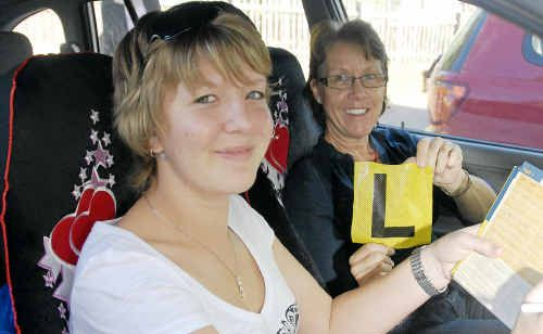 Aimee Burns and her mother Colleen welcome a Federal Government-funded program, Keys2Drive, which gives learner drivers extra instruction.