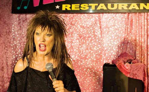 A much-loved Julie Pardella, aka Tina Turner, performs at Caloundra's Velvet Waters Restaurant.