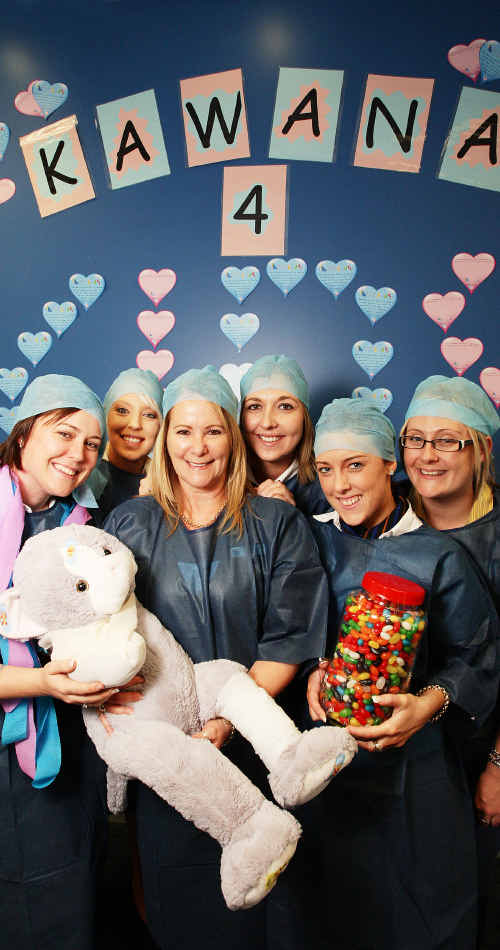 Bank of Queensland Kawana Branch staff members dress up to launch the Kids Hospital Appeal. Left to right, Crystal Zimmerman, Samantha McMahon, Julie Dickinson, Danielle Patorniti, Carly Gee and Pamela Schull.