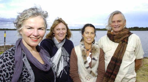Gearing up for the Sydney Good Food and Wine Show are local food producers (from left) Pam Brook, from Brookfarm near Bangalow, Shelley Sellors, from Zest Byron Bay, Alison Campbell, from Duck Creek Macadamias, and Richard Patton, from Red Dragon Inn.