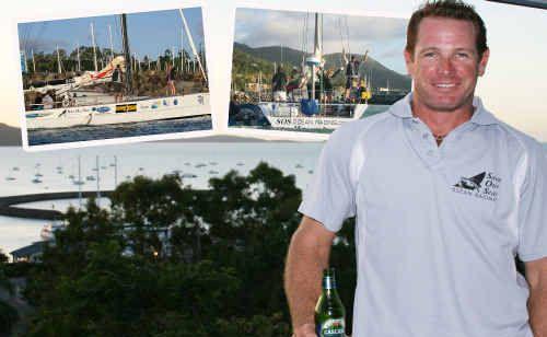 Ian Thomson has set a new record for sailing solo around Australia.