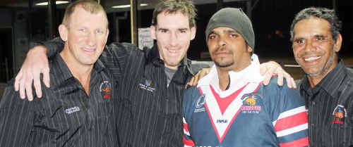 Warwick Cowboys C-grade players (from left) Paul Hallman, Robert Crummy, Leon Close and James Jerome are ready for the C-grade President's Cup final tomorrow.