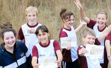 Orienteering enthusiasts (from left) Maddie McCoy (Toowomba), Liam Devine (Toowomba), Heather Burridge (Brisbane), Jess Hoey (Inglewood), Simeon Burrill (Warwick), Alison Burrill (Warwick) and Amarina Haynes (Stanthorpe).