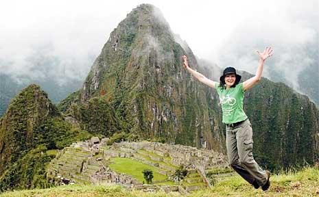 Viv Walsh at the world-famous Machu Picchu Inca ruins in Peru.