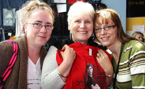 Rosemary Donelan and daughters, Tracey Willcock and Michelle Camb, show their support for Team Jacob at Sunshine Plaza cinema.