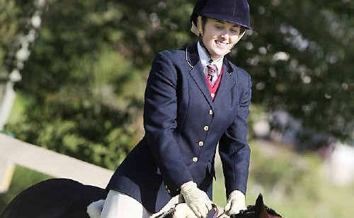 Amy Thompson was successful on her first outing with Cooper, bringing home gold in ridden thoroughbred.
