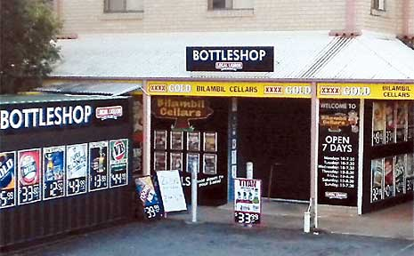 Youths held up the Simpson Drive bottle shop in Bilambil Heights.