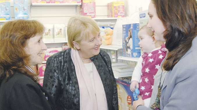 Federal MP for Page Janelle Saffin and Minister for Families Jenny Macklin met with staff and customers at Target Goonellabah this morning.