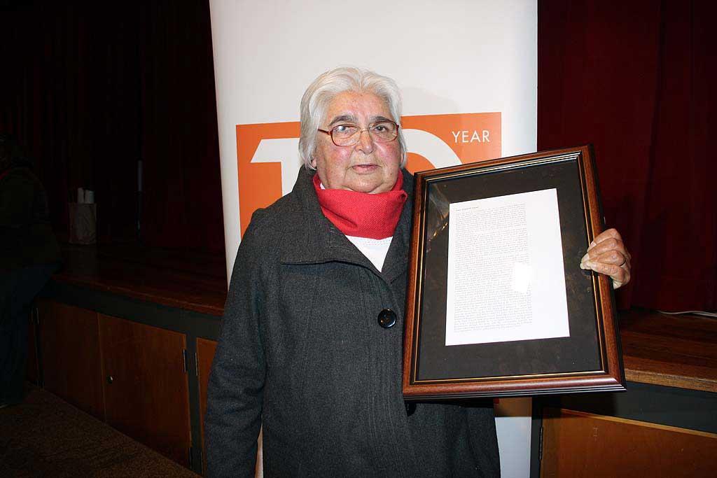 Grace Weatherall, winner of the 2010 NAIDOC Lifetime and Achievement Award in Toowoomba.