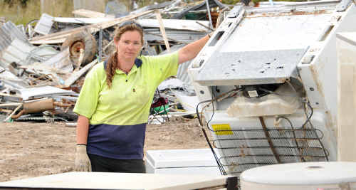Tin Can Bay Waste Management operator Jessica Milne is hoping her tender will be accepted and she can continue managing the facility as she has done for the past six years.